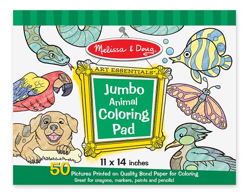 Jumbo Coloring Pad - Animal Cover Image