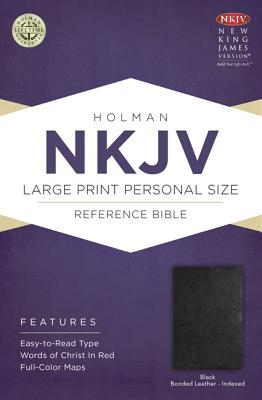 Cover for NKJV Large Print Personal Size Reference Bible, Black Bonded Leather Indexed