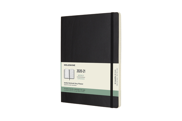 Moleskine 2020-21 Weekly Planner, 18M, Extra Large, Black, Soft Cover (7.5 x 9.75) Cover Image