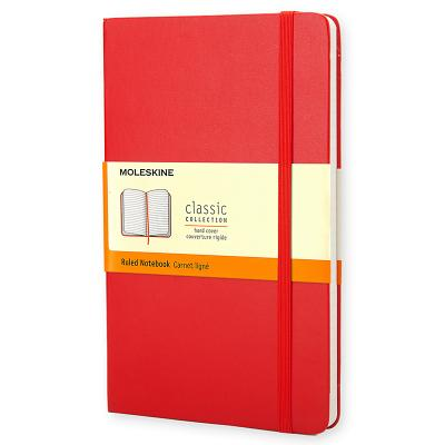 Moleskine Classic Notebook, Pocket, Ruled, Red, Hard Cover (3.5 x 5.5) (Classic Notebooks) Cover Image