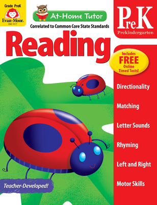 At Home Tutor Reading, Grade Pre-K (At-Home Tutor) Cover Image