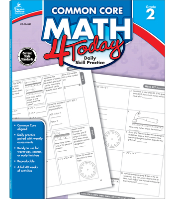 Common Core Math 4 Today, Grade 2 (Common Core 4 Today) Cover Image