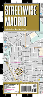 Streetwise Madrid Map - Laminated City Center Street Map of Madrid, Spain (Michelin Streetwise Maps) Cover Image