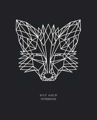 Dot Grid Notebook: Minimalist Polygonal Fox Designed 110 Dotted Pages Black Dotted Notebook With Square .20