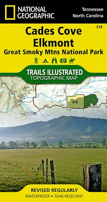 Great Smoky Mountains National Park West: Cades Cove, Elkmont (National Geographic Trails Illustrated Map #316) Cover Image