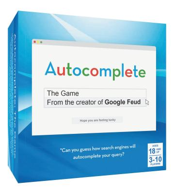 Autocomplete: The Game: – An Autocorrect Guessing Game for Adults, For 3-10 Players, Ages 18+, Funny After Dinner Party Games for a Group Cover Image