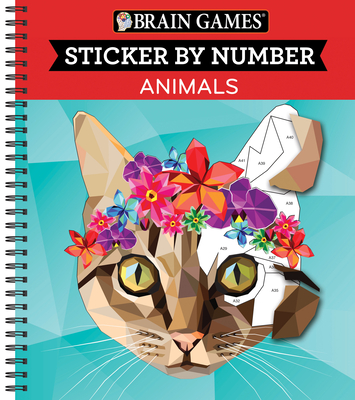 Brain Games - Sticker by Number: Animals (Geometric Stickers) Cover Image