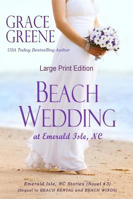 Beach Wedding (Large Print): At Emerald Isle, NC Cover Image