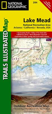 Lake Mead National Recreation Area (National Geographic Trails Illustrated Map #204) Cover Image