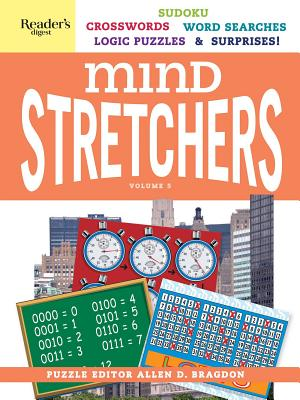 Reader's Digest Mind Stretchers Puzzle Book Vol. 5: Number Puzzles, Crosswords, Word Searches, Logic Puzzles and Surprises (Mind Stretcher's #5) Cover Image