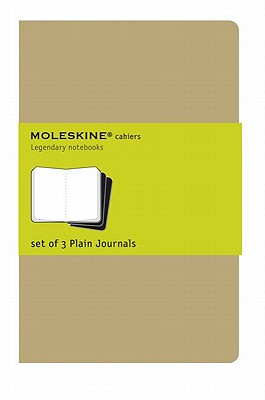 Moleskine Cahier Journal (Set of 3), Large, Plain, Kraft Brown, Soft Cover (5 x 8.25): set of 3 Plain Journals (Cahier Journals) Cover Image