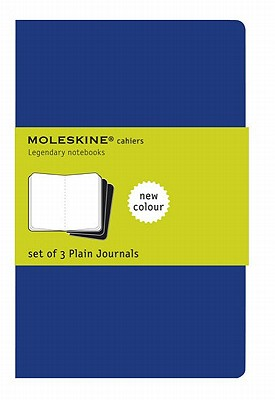 Moleskine Cahier Journal (Set of 3), Pocket, Plain, Indigo Blue, Soft Cover (3.5 x 5.5) Cover Image