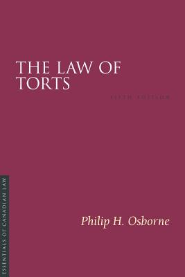 The Law of Torts, 5/E (Essentials of Canadian Law) Cover Image