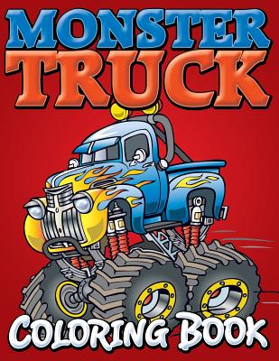 Monster Trucks Coloring Book Cover Image