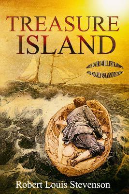 Cover for Treasure Island (with Over 140 Illustrations and Nearly 450 Annotations)