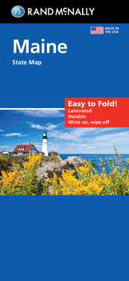 Rand McNally Easy to Fold Maine: Maine (Laminated Fold Map) (Easyfinder Maps) Cover Image