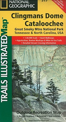 Clingmans Dome, Cataloochee: Great Smoky Mountains National Park (National Geographic Maps: Trails Illustrated #317) Cover Image