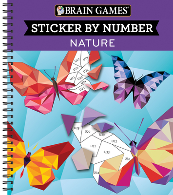 Brain Games - Sticker by Number: Nature (28 Images to Sticker) Cover Image