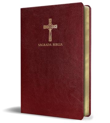 Biblia Católica en español. Símil piel vinotinto, tamaño compacto / Catholic Bible. Spanish-Language, Leathersoft, Wine, Compact Cover Image