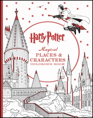 Harry Potter Magical Places & Characters Coloring Book Cover Image