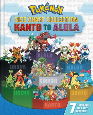 Pokémon Size Chart Collection: Kanto to Alola Cover Image