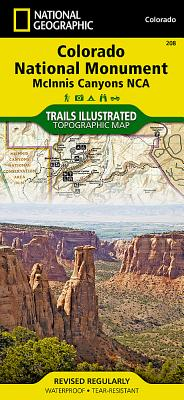 Colorado National Monument [Mcinnis Canyons National Conservation Area] (National Geographic Trails Illustrated Map #208) Cover Image