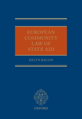 European Community Law of State Aid Cover Image