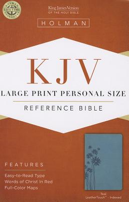Cover for KJV Large Print Personal Size Reference Bible, Teal LeatherTouch Indexed