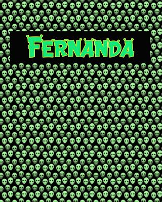 120 Page Handwriting Practice Book with Green Alien Cover Fernanda: Primary Grades Handwriting Book Cover Image