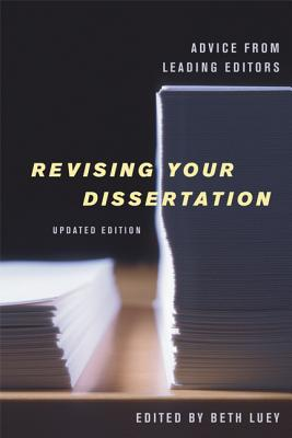 Cover for Revising Your Dissertation, Updated Edition