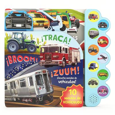 ¡Traca! ¡Broom! ¡Zuum! ¡Escucha Sonidos de Vehículos! Cover Image