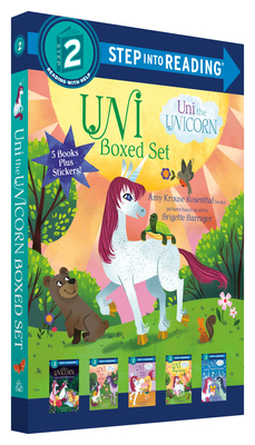 Uni the Unicorn Step into Reading Boxed Set: Uni Brings Spring; Uni's First Sleepover; Uni Goes to School; Uni Bakes a Cake; Uni and the Perfect Present Cover Image