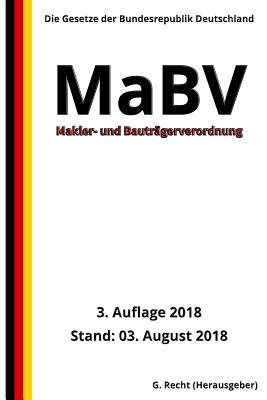 Makler- und Bauträgerverordnung - MaBV, 3. Auflage 2018 Cover Image