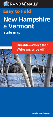 Rand McNally Easy to Fold New Hampshire: New Hampshire, Vermont (Laminated Fold Map) (Easyfinder S) Cover Image