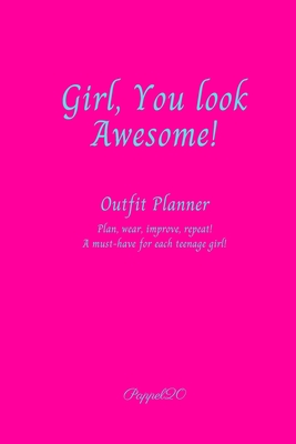 Outfit Planner Cover Hollywood Cerise color 200 pages 6x9 Inches Cover Image