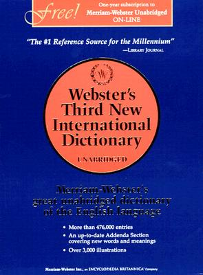 Webster's Third New Int'l Dictionary, Unabridged [With Access Code] Cover Image