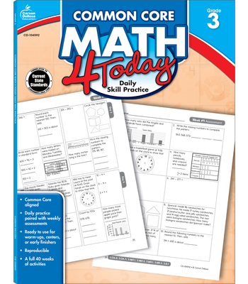 Common Core Math 4 Today, Grade 3 (Common Core 4 Today) Cover Image