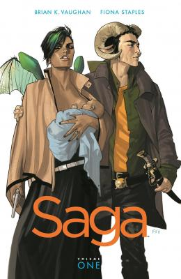 Saga Volume 1 (Saga (Comic Series)) Cover Image