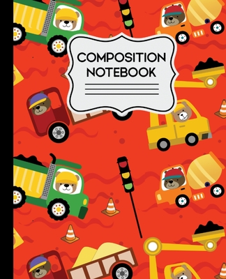 Composition Notebook: Construction Bears Pattern for Kids - 7.5