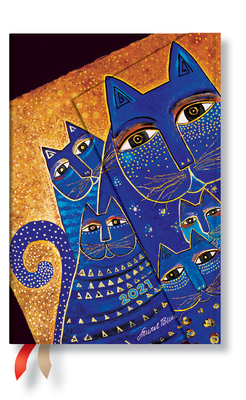 Paperblanks 2021 Mediterranean Cats Mini 12-Month Cover Image