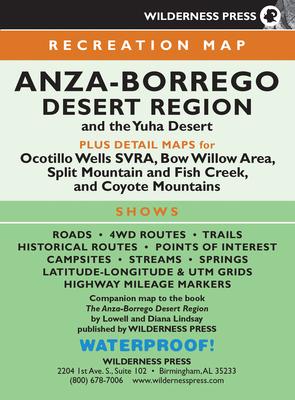 Map Anza-Borrego Desert Region Cover Image