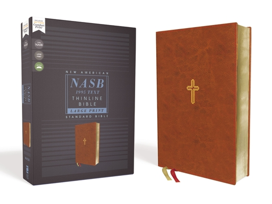 Nasb, Thinline Bible, Large Print, Leathersoft, Brown, Red Letter Edition, 1995 Text, Comfort Print Cover Image