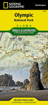 Olympic National Park (National Geographic Trails Illustrated Map #216) Cover Image