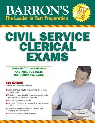 Civil Service Clerical Exam (Barron's Test Prep) Cover Image