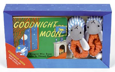 Goodnight Moon Board Book and Slippers Cover Image