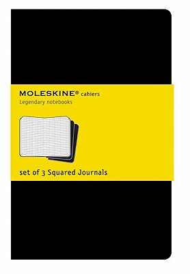 Moleskine Cahier Journal (Set of 3), Extra Large, Squared, Black, Soft Cover (7.5 x 10) (Cahier Journals) Cover Image