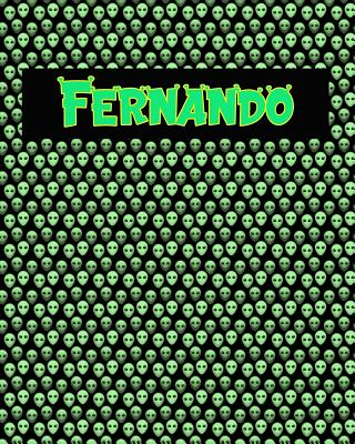 120 Page Handwriting Practice Book with Green Alien Cover Fernando: Primary Grades Handwriting Book Cover Image