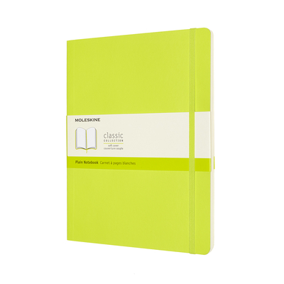 Moleskine Classic  Notebook, Extra Large, Plain, Lemon Green, Soft Cover (7.5 x 9.75) Cover Image