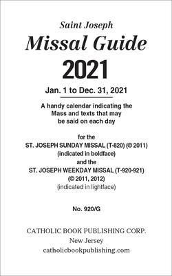 St. Joseph Missal Guide for 2021 Cover Image
