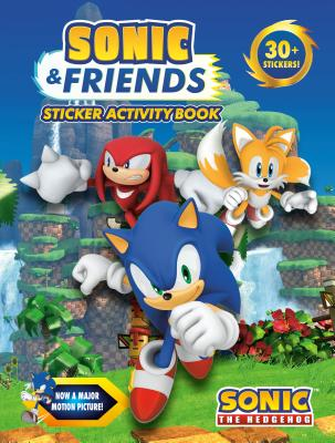 Sonic & Friends Sticker Activity Book (Sonic the Hedgehog) Cover Image